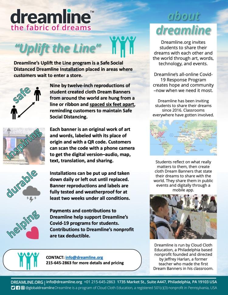 Dreamline's Uplift the Line Covid-19 Response Program 5-12-20 c