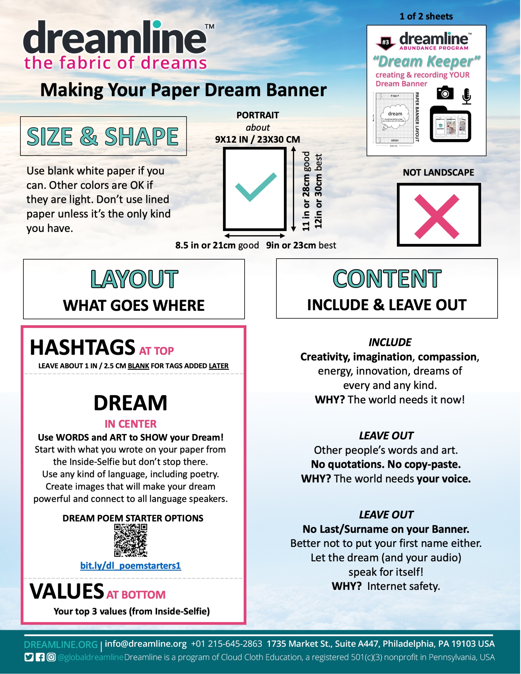 Paper Dream Banner Making Directions 5-21-20 D