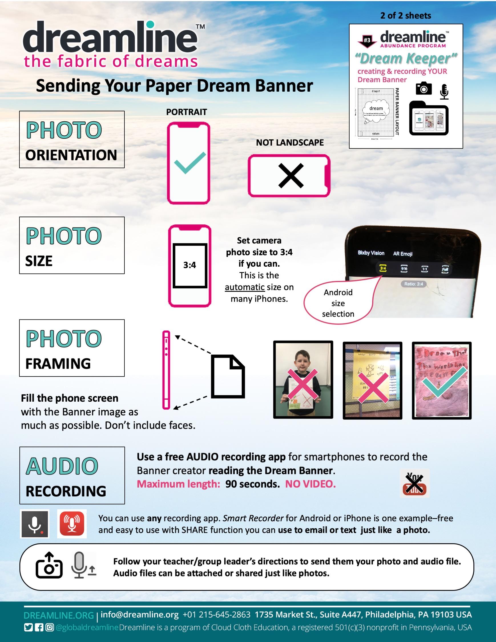 Sending Your Paper Dream Banner 5-9-20